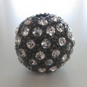 16mm sort kugle belagt med mange rhinsten-20