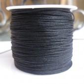 1,0mm nylon knyttesnor, sort-20