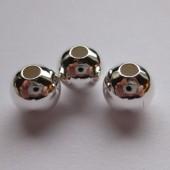 8mm forsølvede glatte perler, 4 stk-20