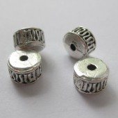 7x5mm forsølvede perler, 4 stk-20