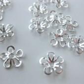 9mm forsølvede blomster perleskåle-20