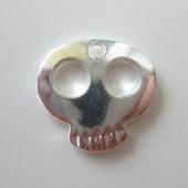 sølv skull vedhæng