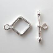 Sterling sølv bidsel lås-20