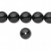 Swarovski® crystal pearl, 8mm rund, mystic black-20