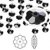 Swarovski® crystal, 8mm marguerite lochrose flower, Jet-20
