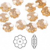 Swarovski® crystal, 10mm marguerite lochrose flower, Light peach-20