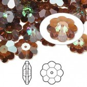 Swarovski® crystal, 12mm marguerite lochrose flower, Crystal copper-20