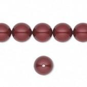 Swarovski® crystal pearl, 10mm rund, bordeaux-20