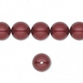 Swarovski® crystal pearl, 6mm rund, bordeaux-20