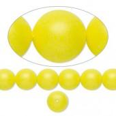 Swarovski® crystal pearl, 8mm rund, neon gul-20