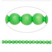 Swarovski® crystal pearl, 3mm rund, neon grøn 10 stk-20