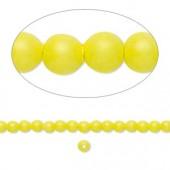Swarovski® crystal pearl, 3mm rund, neon gul 10 stk-20