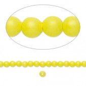 Swarovski® crystal pearl, neon gul, 3mm rund, 10 stk-20