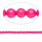 Swarovski® crystal pearl, 3mm rund, neon pink 10 stk-20