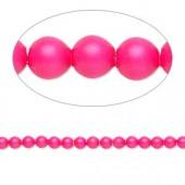 Swarovski® crystal pearl, neon pink, 3mm rund, 10 stk-20