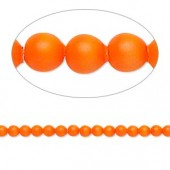 Swarovski® crystal pearl, 3mm rund, neon orange 10 stk-20