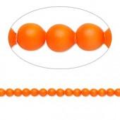 Swarovski® crystal pearl, neon orange, 3mm rund, 10 stk-20