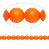 Swarovski® crystal pearl, 4mm rund, neon orange 10 stk-20