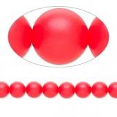 Swarovski® crystal pearl, neon rød, 6mm rund-20