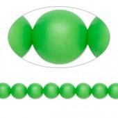 Swarovski® crystal pearl, 6mm rund, neon grøn-20