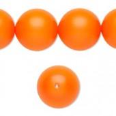 Swarovski® crystal pearl, 16mm rund, neon orange-20
