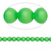 Swarovski® crystal pearl, 4mm rund, neon grøn 10 stk-20