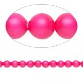 Swarovski® crystal pearl, 4mm rund, neon pink 10 stk-20