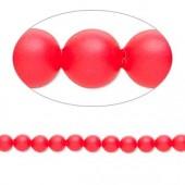 Swarovski® crystal pearl, 4mm rund, neon rød 10 stk-20