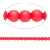 Swarovski® crystal pearl, 3mm rund, neon rød 10 stk-20