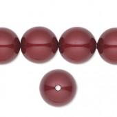 Swarovski® crystal pearl, 14mm rund, bordeaux-20