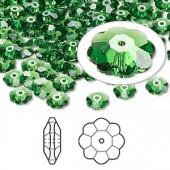 Swarovski® crystal, 6mm marguerite lochrose flower, Fern green-20