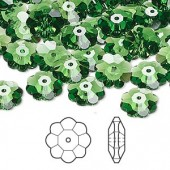 Swarovski® crystal, 10mm marguerite lochrose flower, Fern green-20