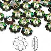 Swarovski® crystal, 10mm marguerite lochrose flower, Crystal vitrail medium-20