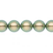 Swarovski crystal pearl, iridescent green 10mm rund-20