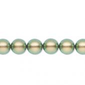 Swarovski crystal pearl, iridescent green 8mm rund-20