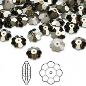 Swarovski® crystal, 8mm marguerite lochrose flower, Crystal bronze shade, foil back-20