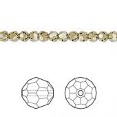 Swarovski crystal 4mm facetslebet rund, Khaki-20