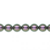Swarovski crystal pearl, Iridescent Purple, 8mm rund-20