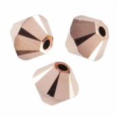 Swarovski bicones 3mm rose gold