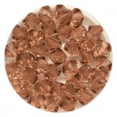 Swarovski bicones blush rose 6mm