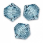 Swarovski® crystal 6mm bicone, denim blue-20