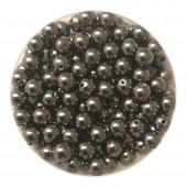 4mm swarovski pearls dark grey