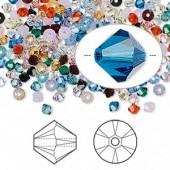 Swarovski crystal 4mm Xilion bicone, mix, 10 stk-20