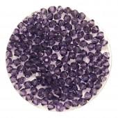 3mm swarovski bicones purple velvet