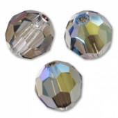 Swarovski crystal 6mm facetslebet rund, Crystal Iridescent Green-20