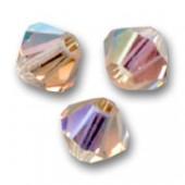 Swarovski crystal 3mm bicone, Light Colorado Topaz AB, 10 stk-20