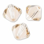 Swarovski crystal 3mm bicone, Light Silk, 10 stk-20