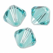 Swarovski crystal 3mm bicone, Light Turquoise, 10 stk-20