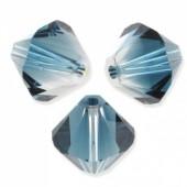 Swarovski crystal 4mm bicone, Crystal-Montanta Blend, 10 stk-20