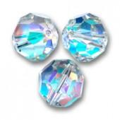 Swarovski crystal, Crystal AB, 6mm facetslebet rund-20